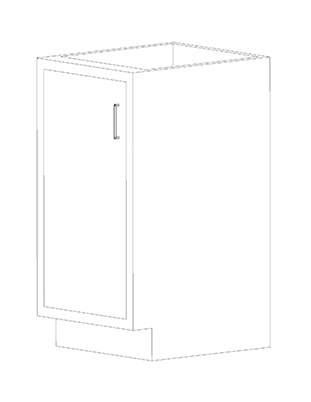 Swinging Left Door Cabinets