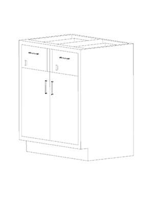Swinging Double Door Combination Cabinets