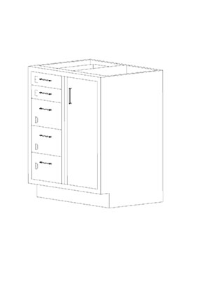 Swinging Right Door Combination Cabinets