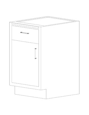 Swinging Left Door Combination Cabinets