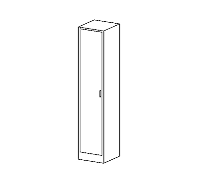 Solid Swinging Left Door Cases
