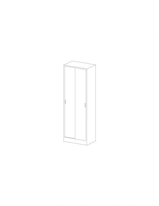 Futuristic Double Door Storage Cabinet Interior